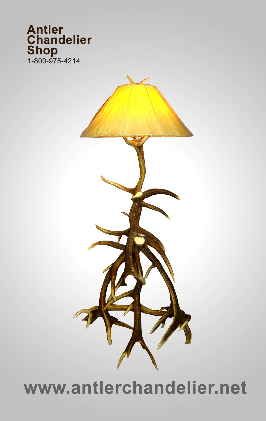 Real Antler Elk Floor Lamp