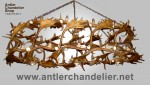 Real Antler Custom Fallow & Whitetail Deer Chandelier CFWT
