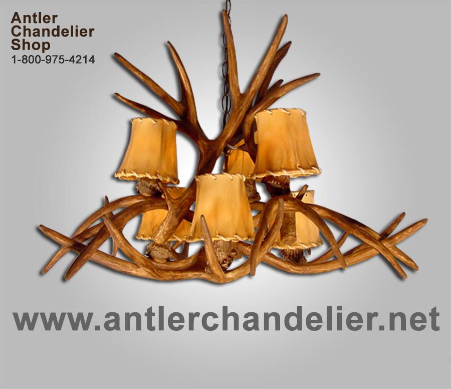 Faux Cast Antler Mule Deer Chandelier Inverted Horns Rustic Lamps 6crs Ebay
